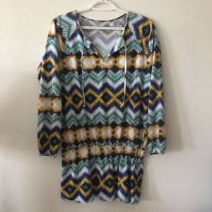 Patagonia chevron tunic dress long sleeves